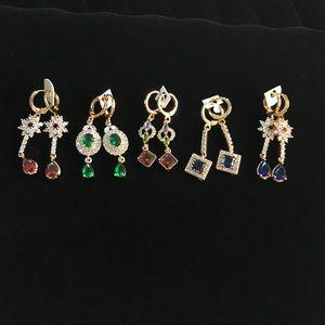 Earrings Artistic Design Sparkly Dangle Rhinestone